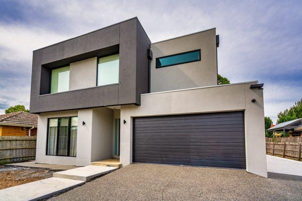 Slimline garage door, panel lift-safe garage door, residential garage doors