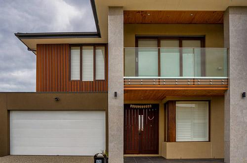 Custom Garage Door, Galva Panel Classic Pearl White