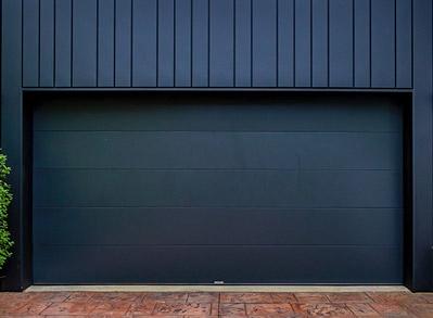 Custom Garage Door, Galva Panel Monument (Matt) Close