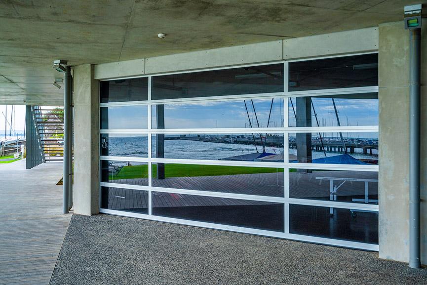 Custom Garage Door, Tranquilo panel